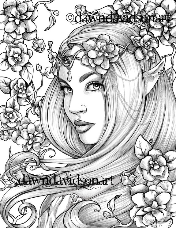 Beautiful portraits, Coloring Pages, Printable, Colouring ...
