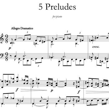 5 Preludes for Piano