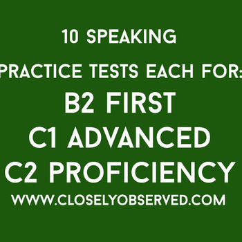 Bundle Offer - B2 First, C1 Advanced, C2 Proficiency Speaking Tests