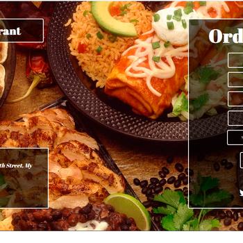 make a restaurant site