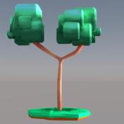 Stylized Lowpoly Tree