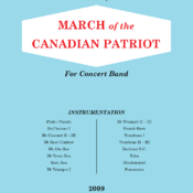 Conductor + parts: MARCH OF THE CANADIAN PATRIOT
