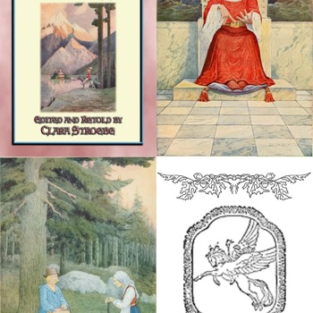 6 Classic Children's Illustrations in colour by GEORGE W. HOOD from THE NORWEGIAN BOOK OF FAIRY TALES compiled and retold by Clara Stroebe