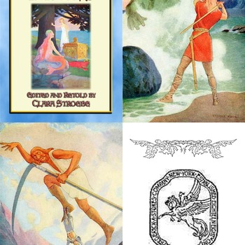 8 Classic Children's Illustrations by GEORGE W. HOOD from The Book of Swedish Fairy Talescompiled and retold by Clara Stroebe