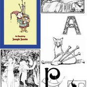 47 Images and 20 illustrated capitals in Black and White by John D Batten from MORE CELTIC FAIRY TALES compiled by Joseph Jacobs.