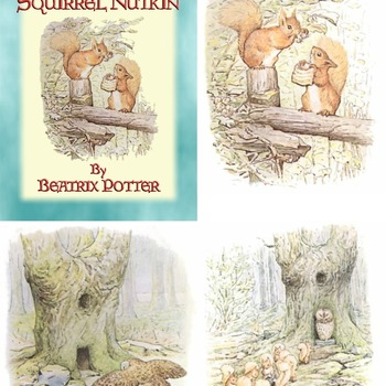 27 Classic Illustrations by Beatrix Potter from BOOK 02 – the Tale of Squirrel Nutkin.