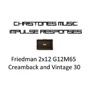 Friedman 2x12 with G12M65 Creamback and Vintage 30 Impulse Responses for Two Notes Gear (tur and wave files)