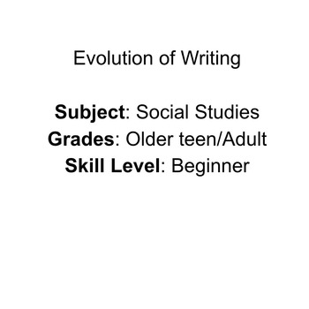 Evolution of Writing