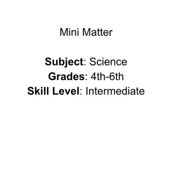 Mini Matter