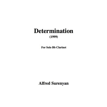 Determination for Solo Clarinet