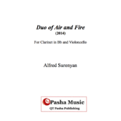 Duo of Fire and Air for Clarinet in Bb and Violoncello