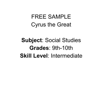 FREE SAMPLE Cyrus the Great