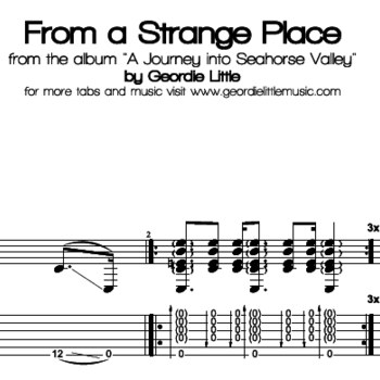 From a Strange Place (Tab/Notation + mp3)