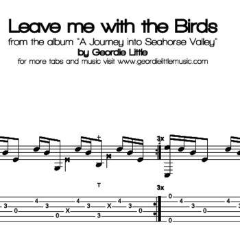 Leave me with the Birds (Tab/Notation + mp3)