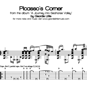 Picasso's Corner (Tab/Notation + mp3)