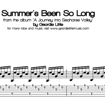 Summer's Been So Long (Tab/Notation + mp3)
