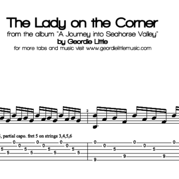 The Lady on the Corner (Tab/Notation + mp3)