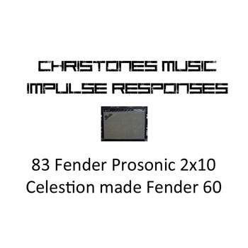 1983 Fender Prosonic 2x10 Fender by Celestion 60 for Two Notes Gear (tur and wave files)
