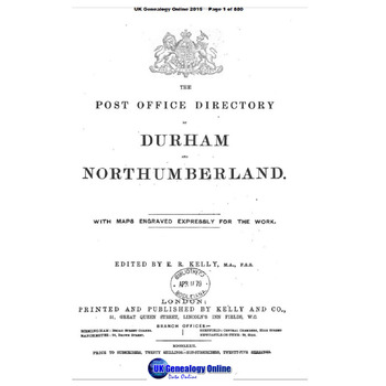 1879 Kelly's Post Office Directory-Durham and Northumberland