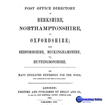 Kelly's 1854 Post Office Directory of Berkshire Etc