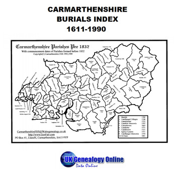 Carmarthenshire Burials Index 1611-1990