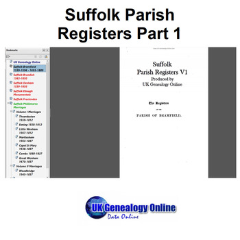 Suffolk Parish Registers Part1