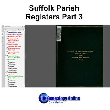 Suffolk Parish Registers Part3