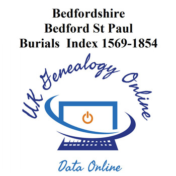 Bedfordshire, Bedford, St Paul Burial Index 1569-1854