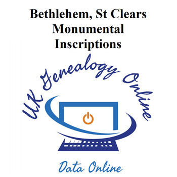 Bethlehem, St Clears Monumental Inscriptions