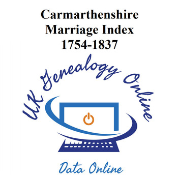 Carmarmarthenshire Marriage Index 1754-1837