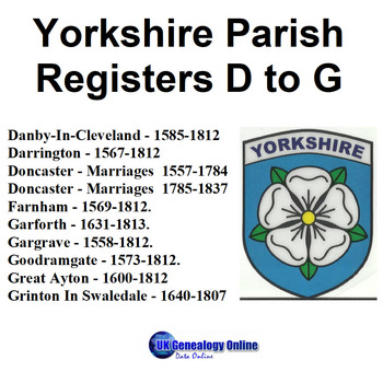 Yorkshire Parish Registers V2