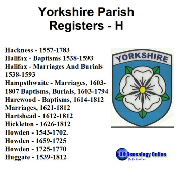 Yorkshire Parish Registers V3