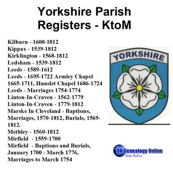Yorkshire Parish Registers V4