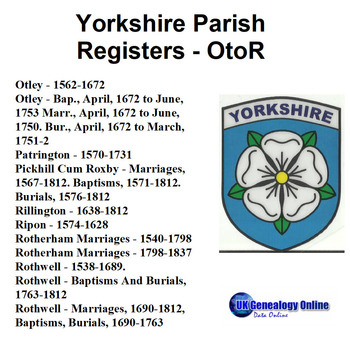 Yorkshire Parish Registers V5