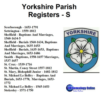 Yorkshire Parish Registers V6