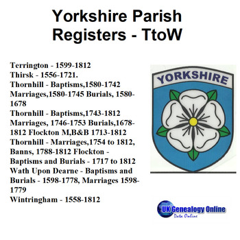 Yorkshire Parish Registers V7