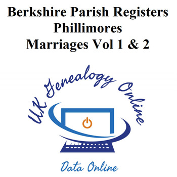 Berkshire Parish Registers - Phillimores Marriages Vol 1 & 2