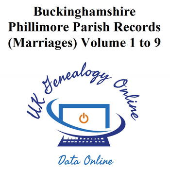 Buckinghamshire Phillimore Parish Records (Marriages) Volume 1 to 9
