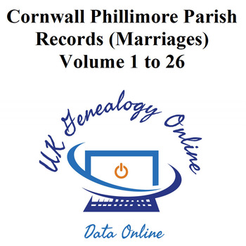 Cornwall Phillimore Parish Records (Marriages) Volumes 1 to 26