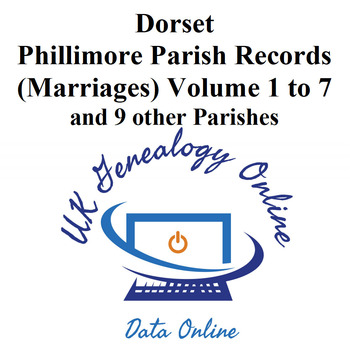 Dorset-Parish-Registers Phillimores Marriages Volumes 1to7 & 9 other Parishes