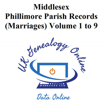 Middlesex Phillimore Parish Records (marriages) Volumes 1 to 9