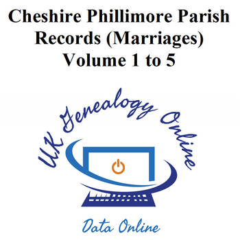 Phillimore's Cheshire parish Marriage Registers for all 5 volumes