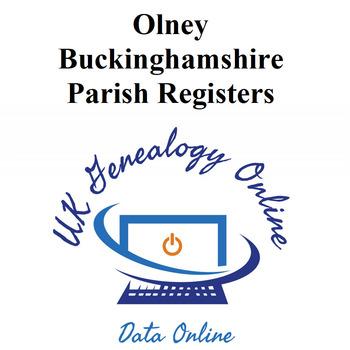 Olney Buckinghamshire Parish Register Indexes 1558-1812