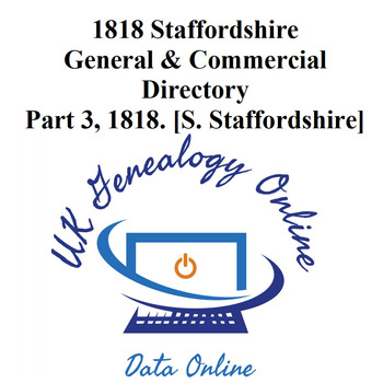 Staffordshire General & Comercial Directory for 1818, 3rd Part