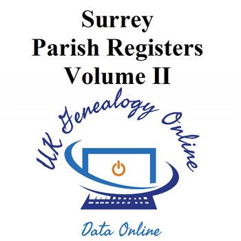 Surrey Parish Registers Volume II