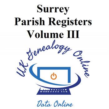 Surrey Parish Registers Volume III