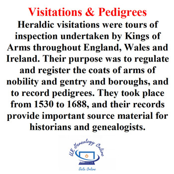 Visitations & Pedigrees