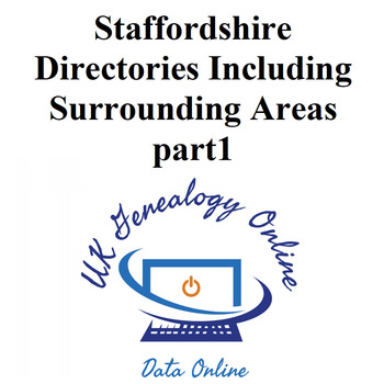 Staffordshire Directories Including Surrounding Areas part1