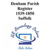 Denham Parish Register 1539-1850 Suffolk