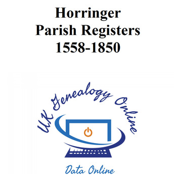 Horringer 1558-1850 Parish Register Suffolk